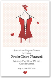 Lingerie Bridal Shower Invitations from TheInvitationShop.com