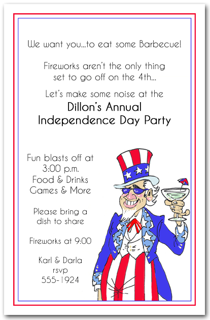 Uncle Sammy Patriotic Party Invitations from TheInvitationShop.com