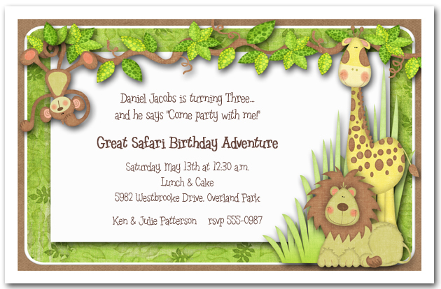 Jungle Hangout Baby Shower Invitations from TheInvitationShop.com