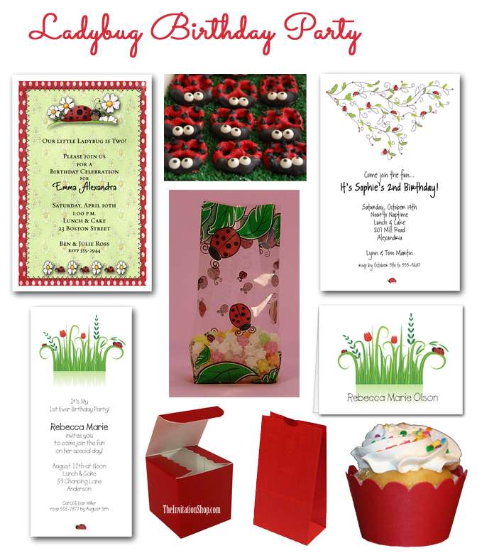 The Invitation Shop Party Blog The Invitation Shop – Ladybug Party Invitations