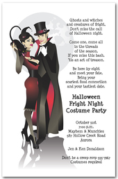 Sinister Couple Halloween Party Invitations from TheInvitationShop.com