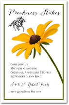 Black-Eyed Susan Stem Preakness Party Invitations from TheInvitationShop.com