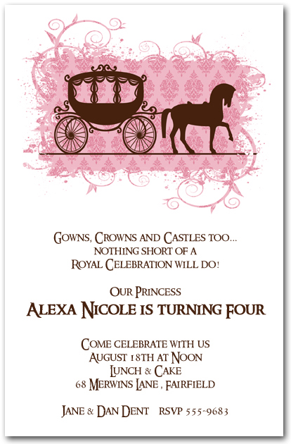 The invitation shop party blog the invitation shop horse carriage for a princess party invitations from theinvitationshop filmwisefo