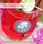 The Oaks Lily® is the official drink of the Kentucky Oaks Horse Race | Get the Recipe | TheInvitationShop.com