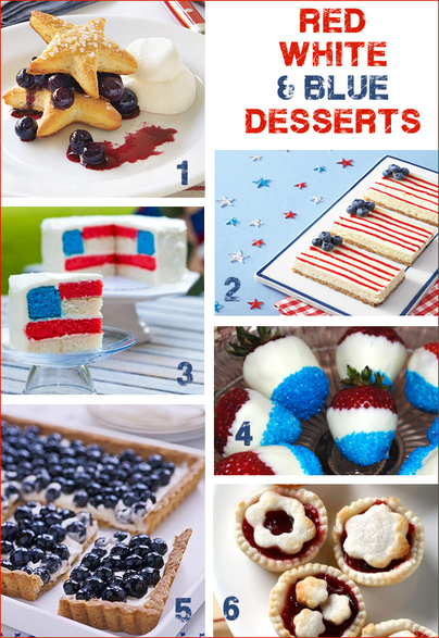 4th of July Red, White and Blue Desserts | TheInvitationShop.com