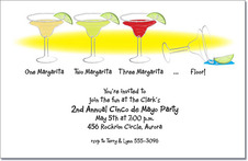 1-2-3-Floor Margaritas Party Invitation from TheInvitationShop.com