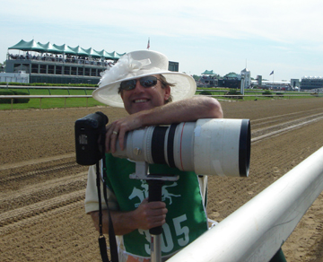 My Kentucky Derby Hat on the Track at Churchill Downs