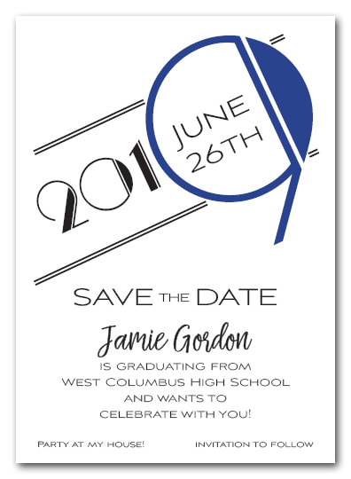 Blue 2019 Graduation Save the Date Cards - Also available as a graduation party invitation or announcement! LOTS OF COLORS available
