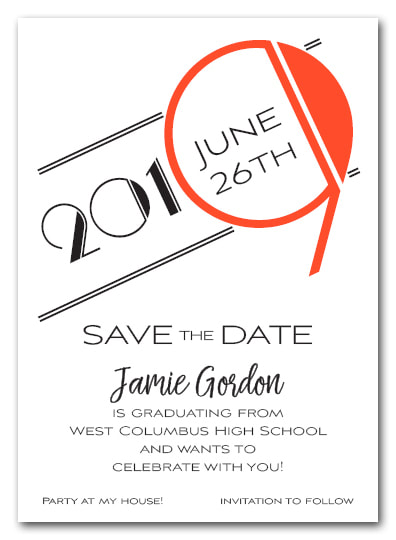 Orange 2019 Graduation Save the Date Cards - Also available as a graduation party invitation or announcement! LOTS OF COLORS available