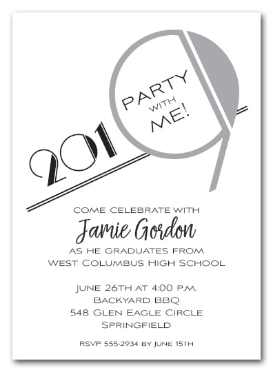 Silver 2019 Graduation Party Invitation or Announcement - Also available as a Save the Date Card. LOTS OF COLORS available
