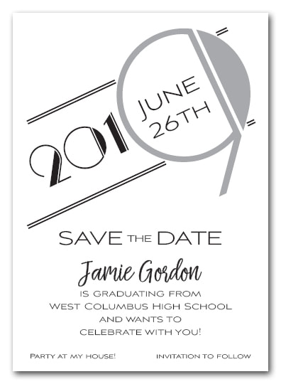 Silver 2019 Graduation Save the Date Cards - Also available as a graduation party invitation or announcement! LOTS OF COLORS available