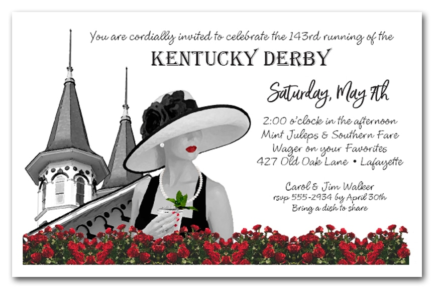 Noir Kentucky Derby Party Invitations - Come see our entire collection!