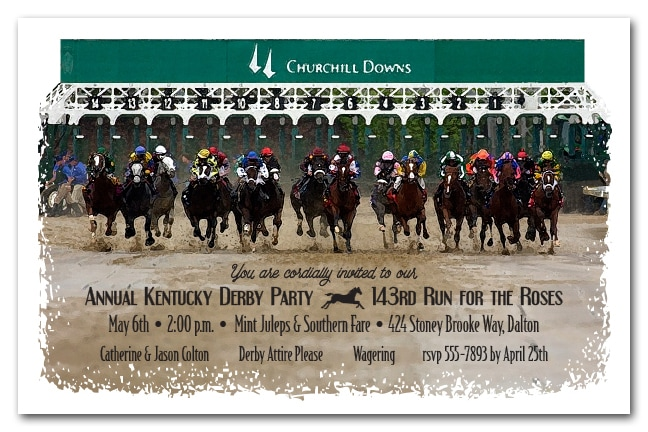 Kentucky Derby Party Invitations The Invitation Shop – Derby Party Invitations
