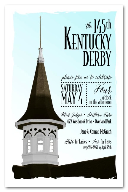 Churchill Steeple Kentucky Derby Party Invitations