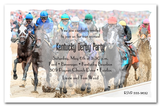 Crowd the Rail Kentucky Derby Party Invitations from TheInvitationShop.com