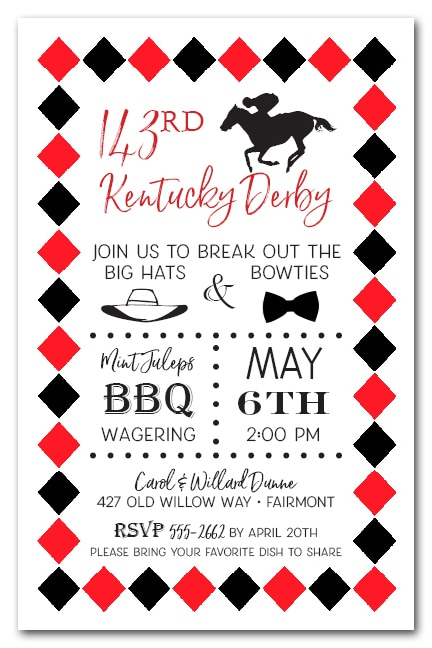 Kentucky Derby & Diamonds Party Invitations - Come see our entire collection1
