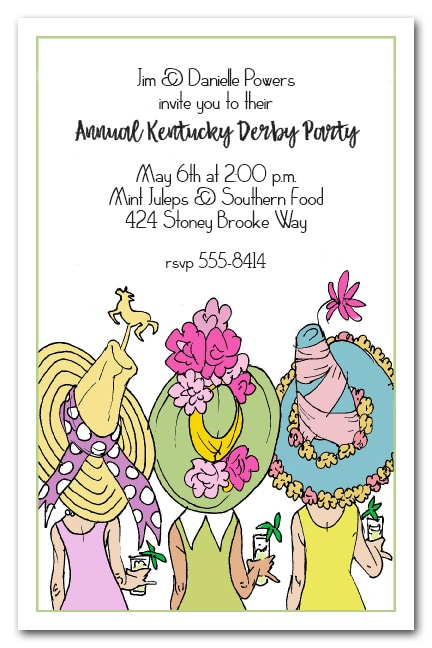 Derby Day Hats Kentucky Derby Party Invitations from TheInvitationShop.com