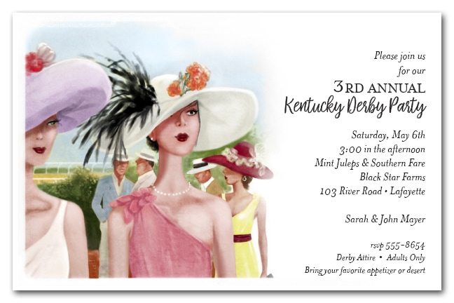 Derby Elegance Kentucky Derby Party Invitations from TheInvitationShop.com