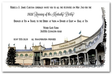 1st Saturday in May Kentucky Derby Party Invitations from TheInvitationShop.com