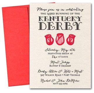 Rose Trio Kentucky Derby Party Invitations from TheInvitationShop.com