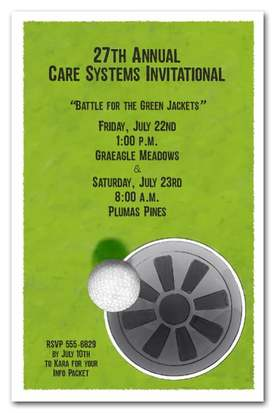 Sink It Golf Party Invitations | Come see all our golf themed party invitations