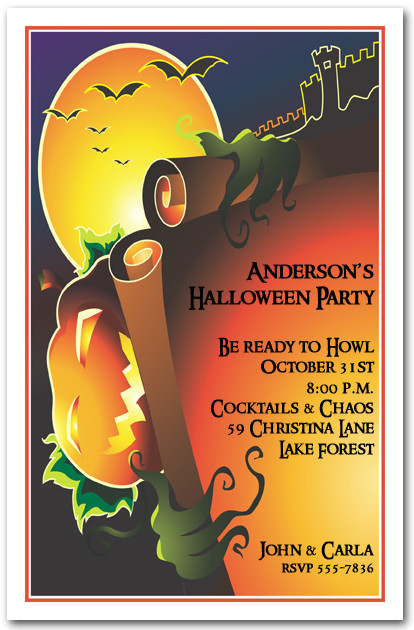 Evil Jack Halloween Party  Invitations