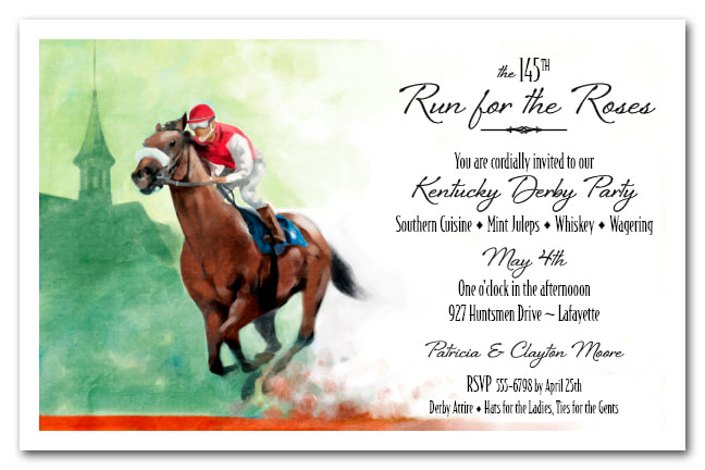 Front Runner Kentucky Derby Party Invitations from TheInvitationShop.com