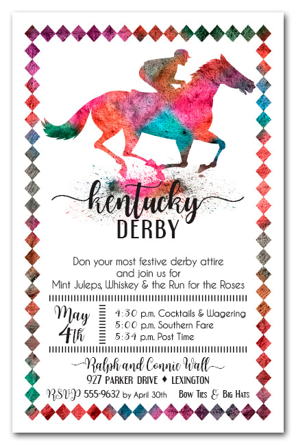 Painted Race Horse Party Invitations - Come see our entire invitation collection.