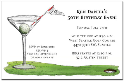 19th Hole Martini Party Invitations from TheInvitationShop.com