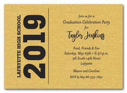 Graduation Party Invitations and Announcements - Available in LOTS  of shimmery paper colors