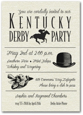 Kentucky Derby Party Invitations: Kentucky Derby Billboard Invitation from TheInvitationShop.com