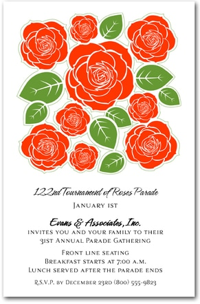 Red Rose Patch Kentucky Derby Party Invitations from TheInvitationShop.com