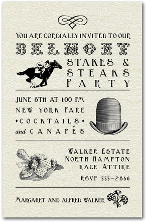 Belmont Stakes Billboard Party Invitations from TheInvitationShop.com