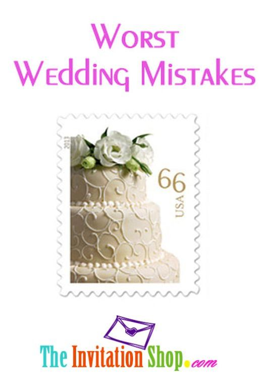 Worst Wedding Mistakes: Wrong Postage on Invitations - We've got all the rules and tips on Wedding postage...