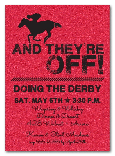 And They're Off Kentucky Derby Party Invitations - come see our entire collection