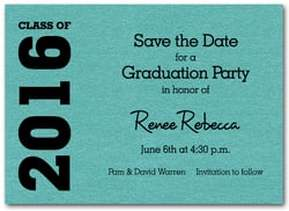 Graduation Save the Date Cards - Available in several colors from TheInvitationShop.com