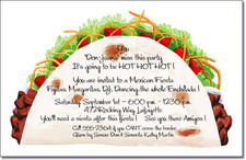 Taco Time Party Invitations