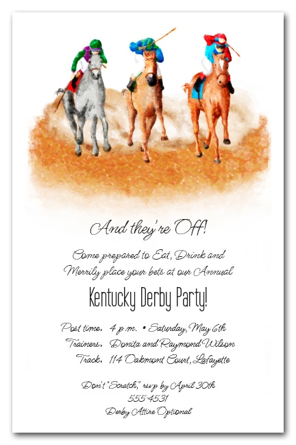 The Finish Kentucky Derby Party Invitations from TheInvitationShop.com