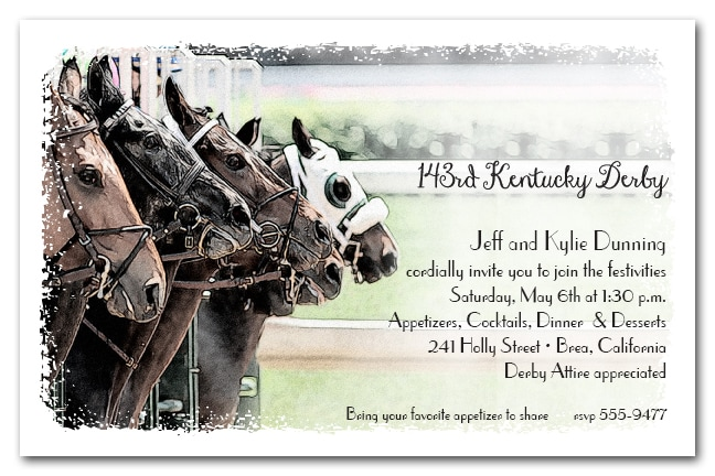 The Gate Kentucky Derby Party Invitations from TheInvitationShop.com