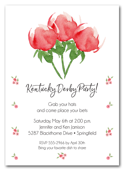 Watercolor Red Roses Party Invitations - Come see our entire collection!