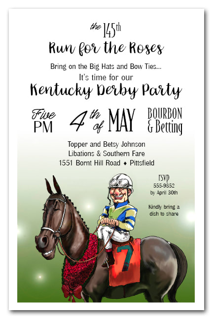 Winning Smiles Kentucky Derby Party Invitations from TheInvitationShop.com
