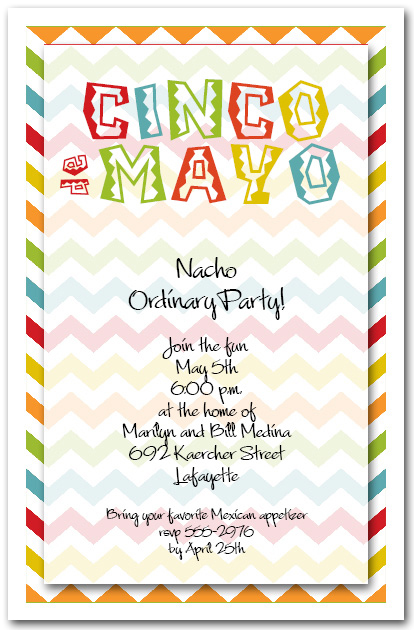 Cinco de Mayo Chevron Party Invitations from TheInvitationShop.com