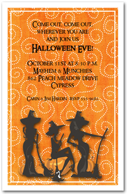 Three Witches Spell Halloween Invitations from TheInvitationShop.com