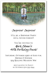 The Fisherman Party Invitations from TheInvitationShop.com