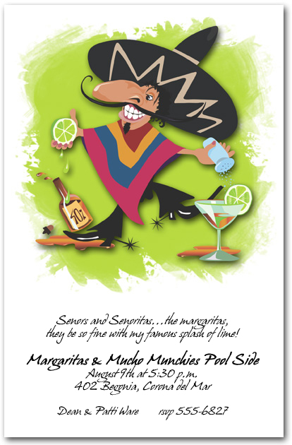Senor Margarita Invitations for Cinco de Mayo Invitations and More! TheInvitationShop.com