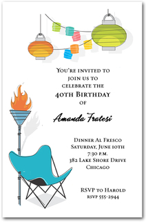 Retro Summer Patio Party Invitations from TheInvitationShop.com