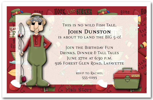 Gone Fishing Party Invitations from TheInvitationShop.com