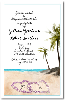 Beach Orchid Leis Party Invitations from TheInvitationShop.com