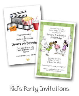 Kid's Party Invitations from TheInvitationShop.com