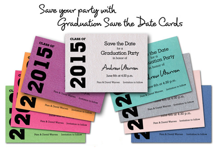 Graduation Save the Date Cards can Save your Party! Check them out at TheInvitationShop.com